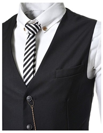 Angcoco Manner Armellose Kette Punkt Casual Slim Fit Blazer Anzug Weste -