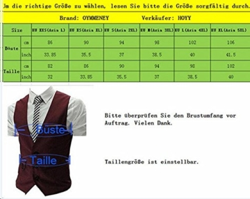 OYMMENEY Anzugweste Herrenweste Herrenanzug Smoking Sakko slim fit, EU-XL(Asien 4XL) Grau -