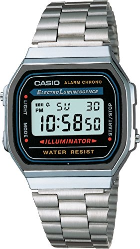 Casio Herren Armbanduhr Collection Digital Quarz A168Wa-1Yes -