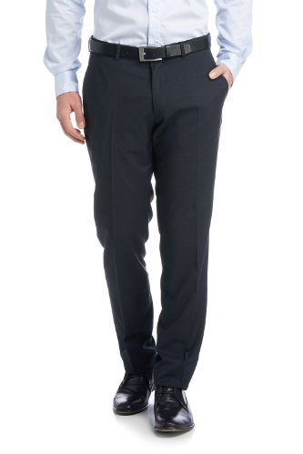 ESPRIT Collection Herren Anzughose Slim Fit 994EO2B901, Gr. 98, Blau (420 DARK NAVY) -