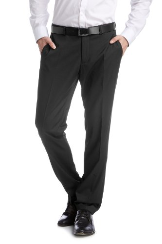 ESPRIT Collection Herren Anzughose Slim Fit 994EO2B903, Schwarz (001 Black), 56 -