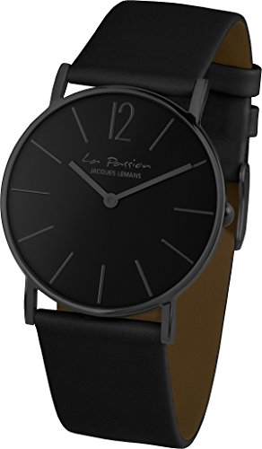 Jacques Lemans Unisex-Armbanduhr La Passion Analog Quarz Leder LP-122C -