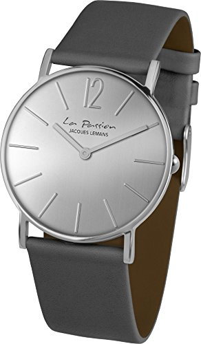Jacques Lemans Unisex-Armbanduhr La Passion Analog Quarz Leder LP-122H -