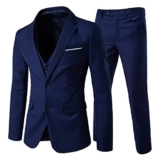 Slim Fit  3-Teilig Business Herrenanzug Smoking -