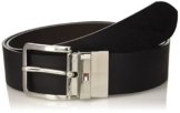 Tommy Hilfiger Herren Gürtel Square Buckle Belt 4.0 Adj Rev, Schwarz (Black/Chocolate 901), 105 -